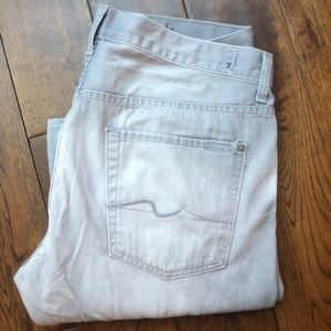 Men's 7 seven jeans   For all mankind light gray